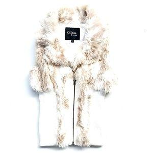 Ci Sono - Faux Animal Fur Vest